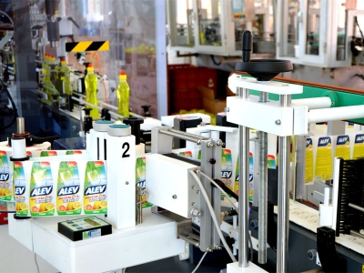 View from production dishwashing liquid